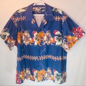 Vtg Hilo Hattie Hawaiian Hibiscus Shirt Men's 5XL